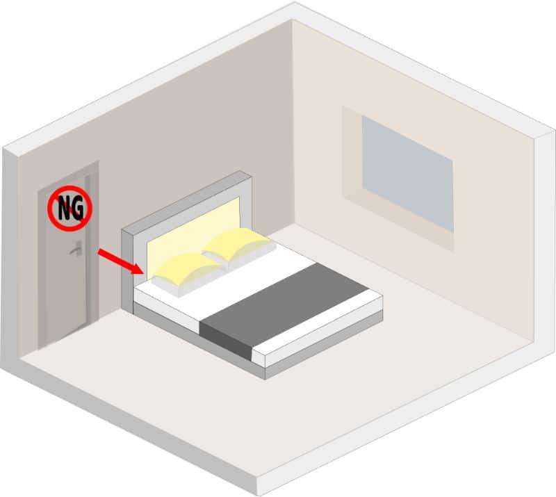 Bed Aligned with Door