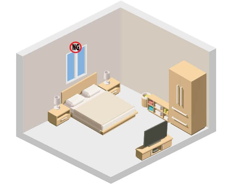 bed under window feng shui