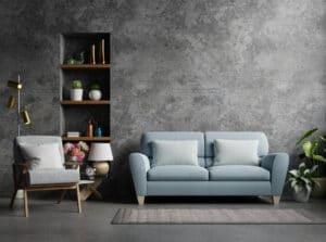 sofa against wall feng shui